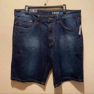 Izod Men's Denim Jean Shorts Classic Fit